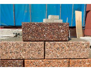 Блок арболитовый с наружным слоем «Мозаика»